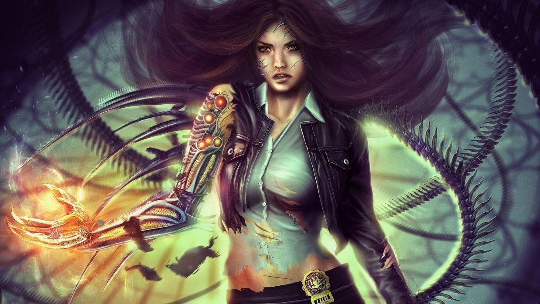 Technics Warrior Robot Jacket Formal shirt Fantasy Girls cyborg wallpaper