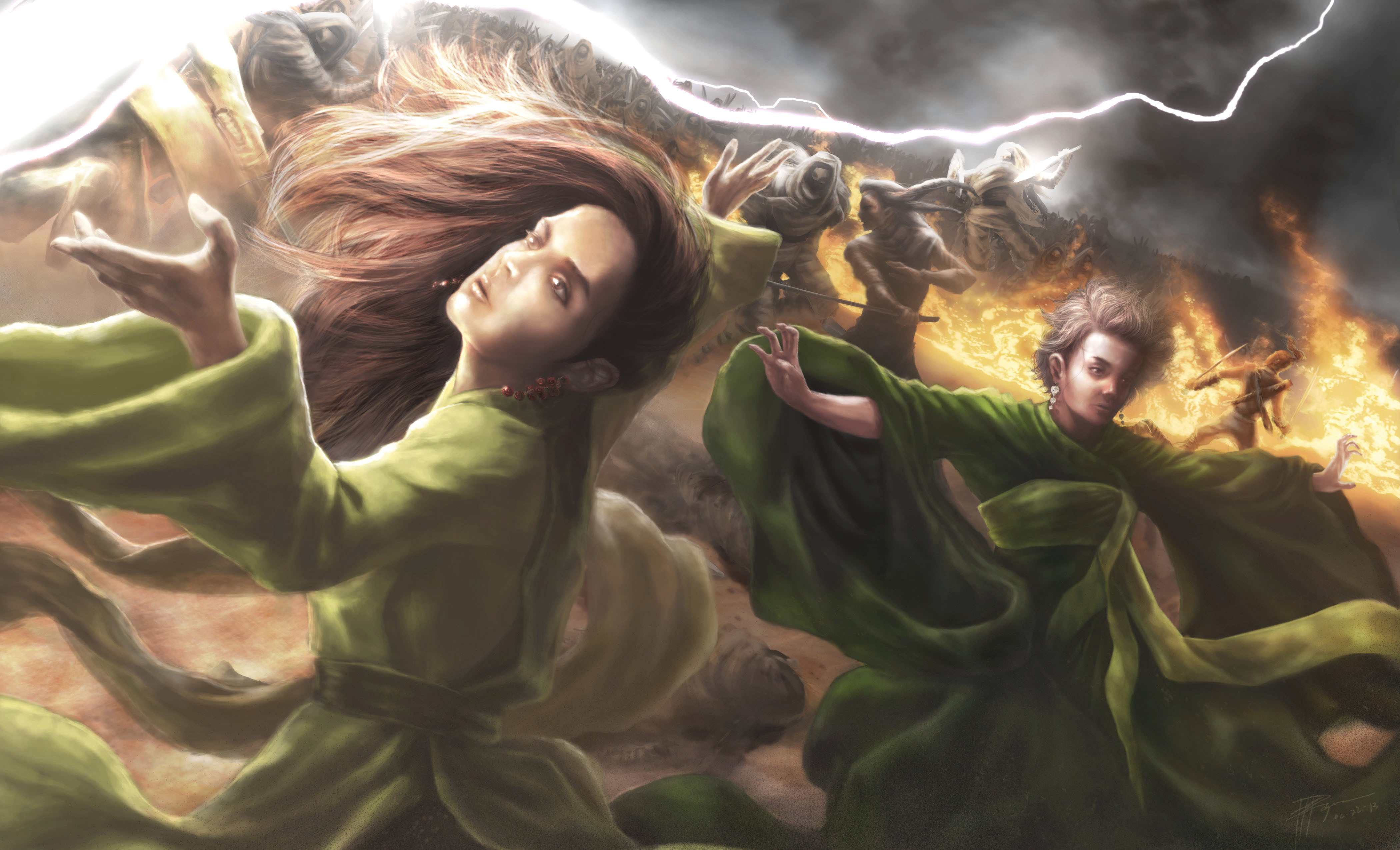 illustrations to books the wheel of time fantasy girls