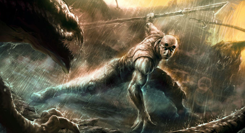 Chronicles of Riddick Warrior Vin Diesel Men Rain Movies Fantasy battle movies sci-fi wallpaper