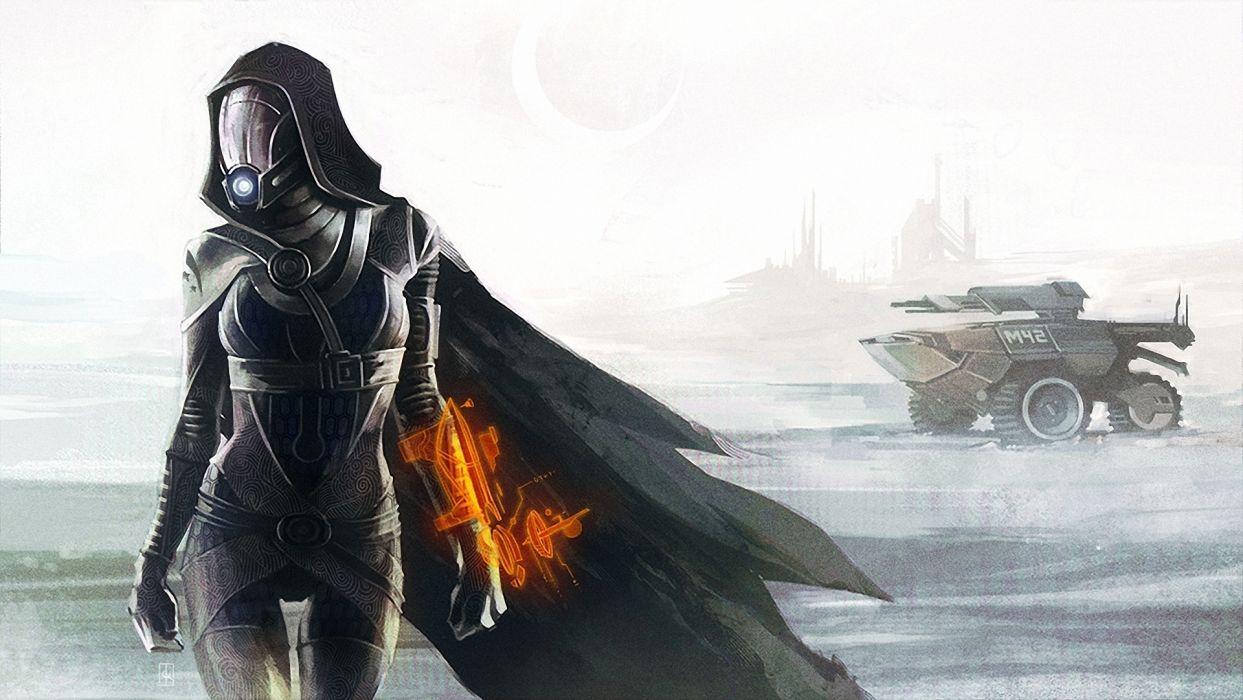 Mass Effect Tali Zorah Games Girls sci-fi warrior wallpaper