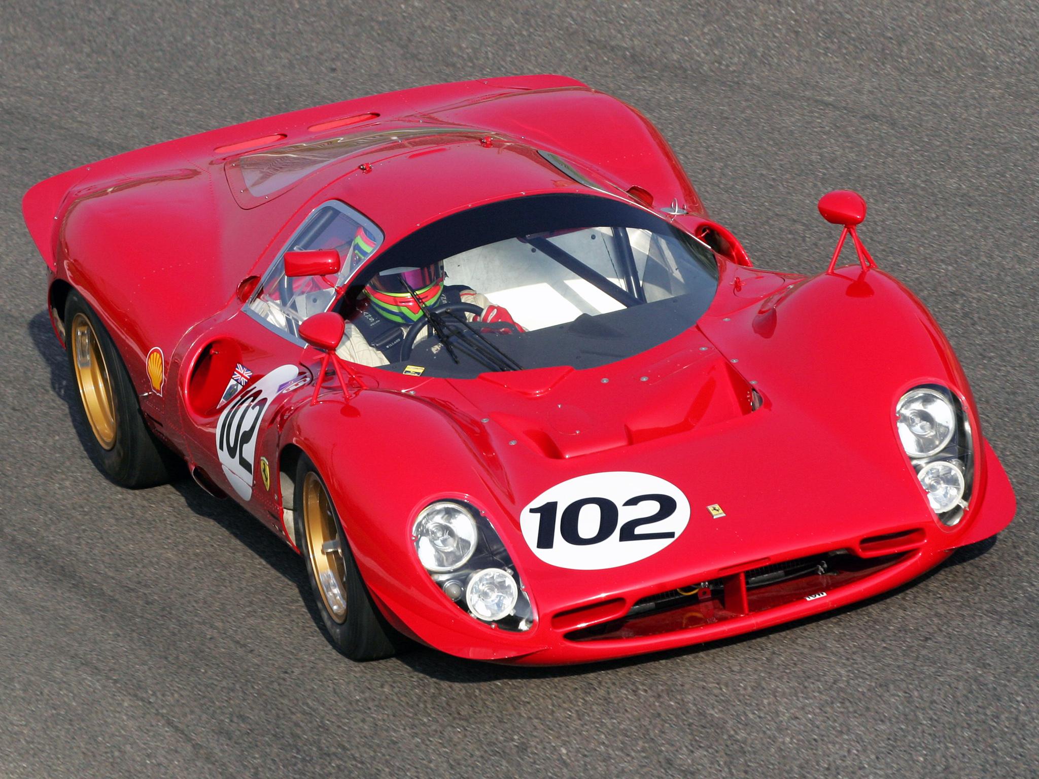 1967 Ferrari 412P race racing classic wallpaper