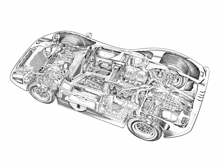 1967 Ford GT40 MkIV race racing supercar interior engine        h wallpaper