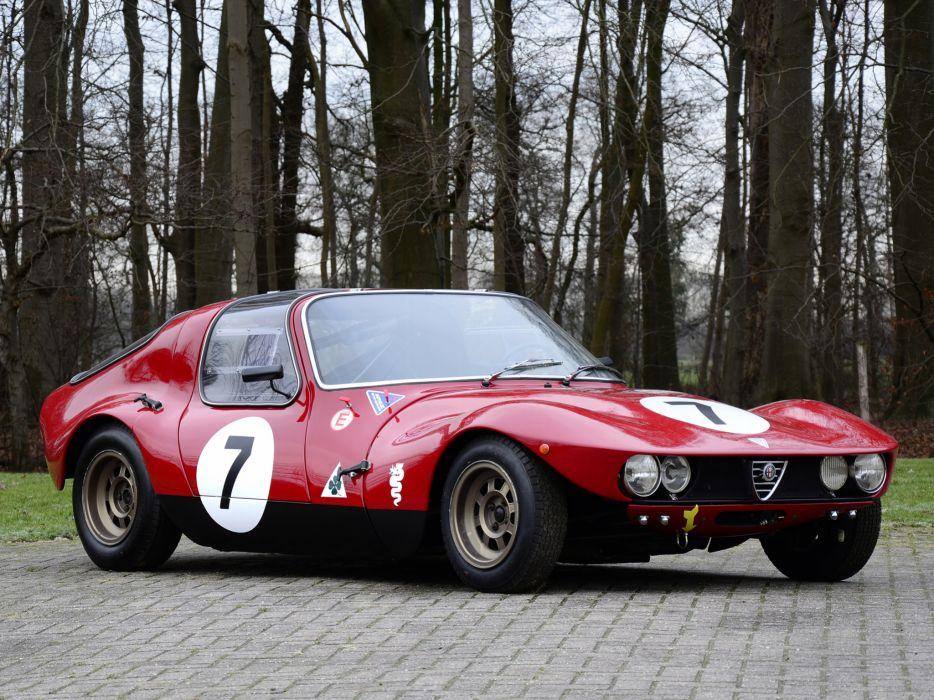 1965 Alfa Romeo Giulia TZ Berlinetta Prototipo 105 race racing classic    f wallpaper