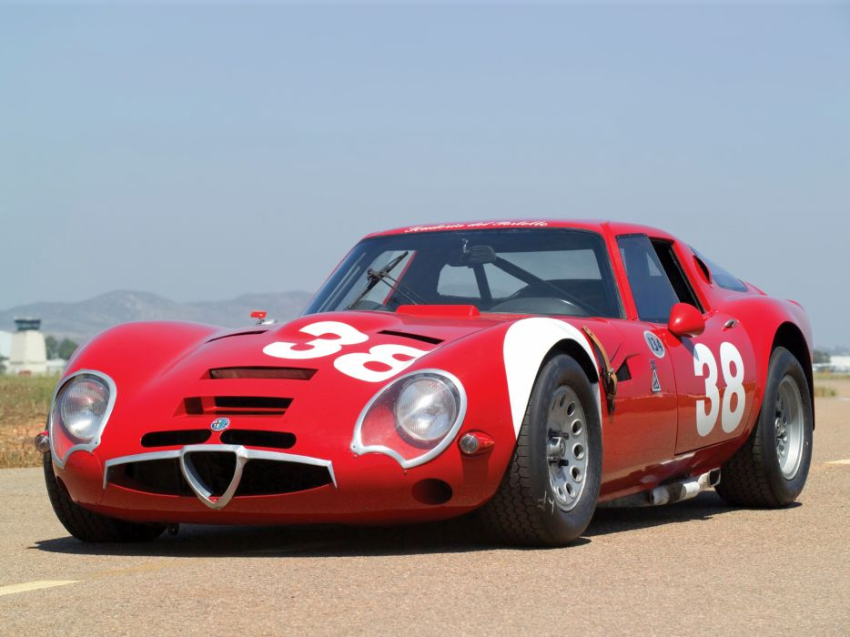 1965 Alfa Romeo Giulia TZ2 105 race racing supercar classic  f wallpaper