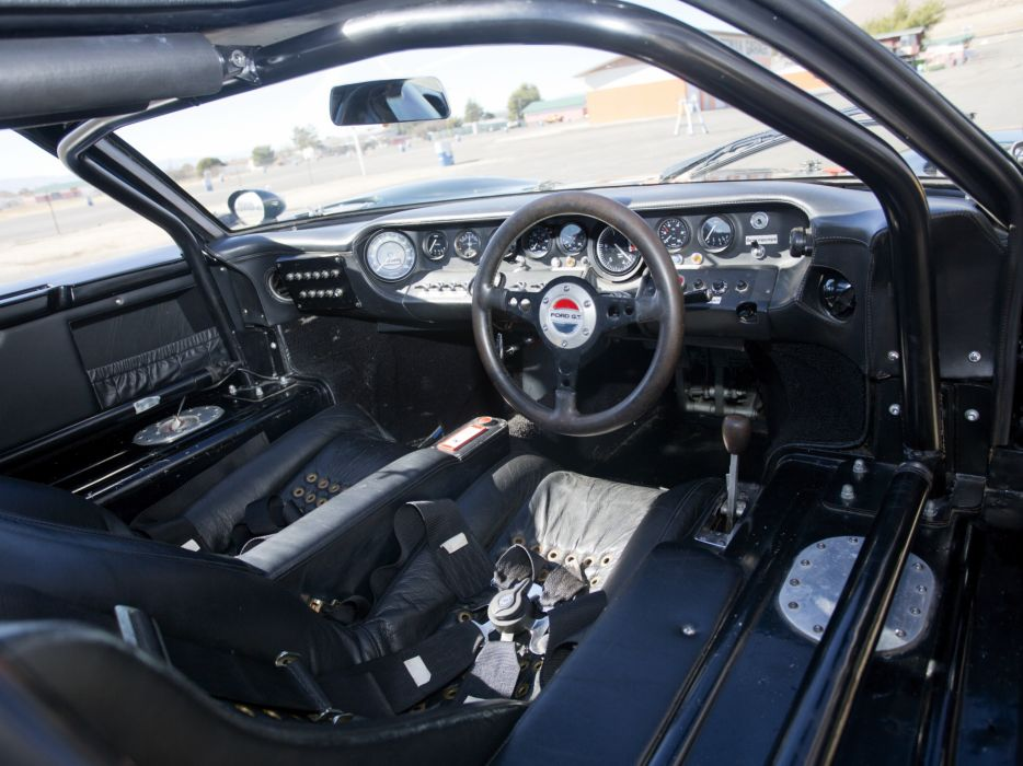 1965 Ford GT40 MkII supercar race racing classic g-t interior      g wallpaper