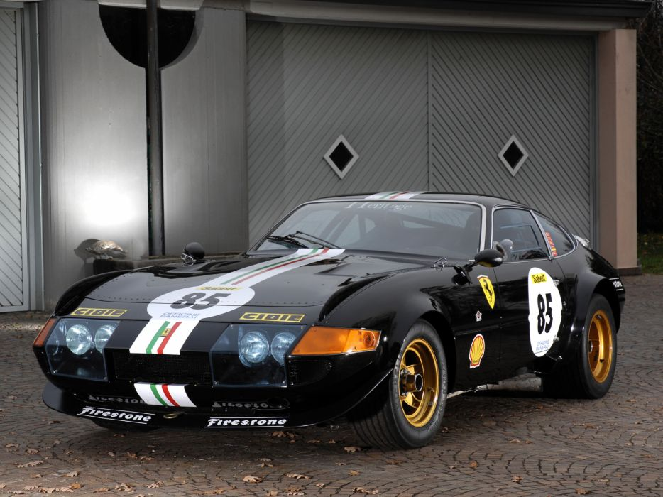1970 Ferrari 365 GTB-4 Daytona Competizione supercar race racing   d wallpaper