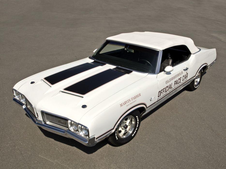 1970 Oldsmobile Cutlass Supreme Convertible Indy 500 Pace 4267 muscle classic race racing     hg wallpaper