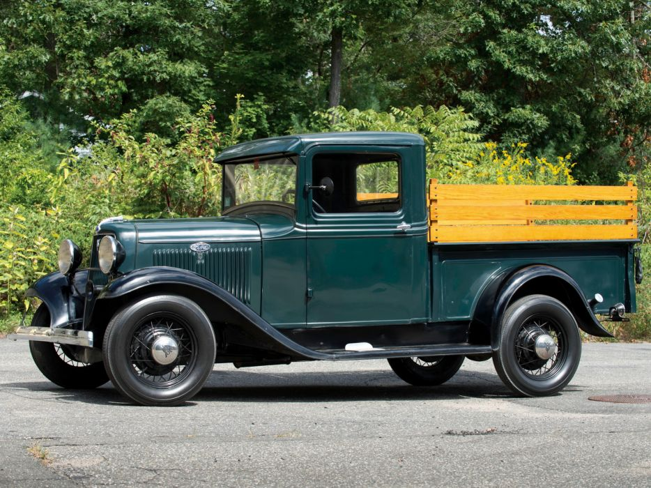1934 Ford V8 Pickup Truck 46-830 retro v-8  gf wallpaper