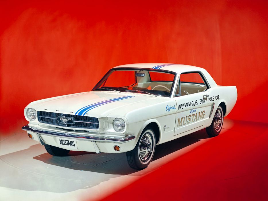 1964 Ford Mustang Coupe Indy 500 Pace Car muscle classic race racing c wallpaper