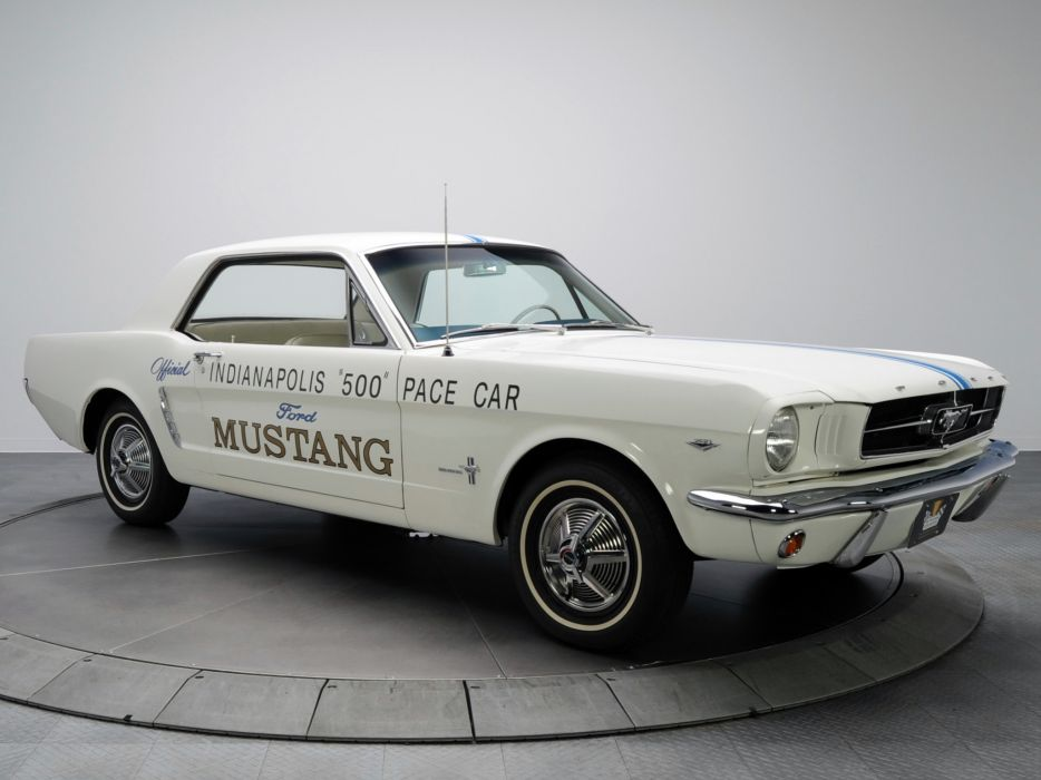 1964 Ford Mustang Coupe Indy 500 Pace Car muscle classic race racing   gd wallpaper
