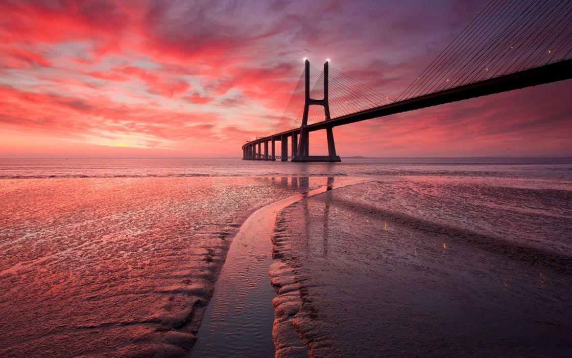 Bridge Sunset wallpaper