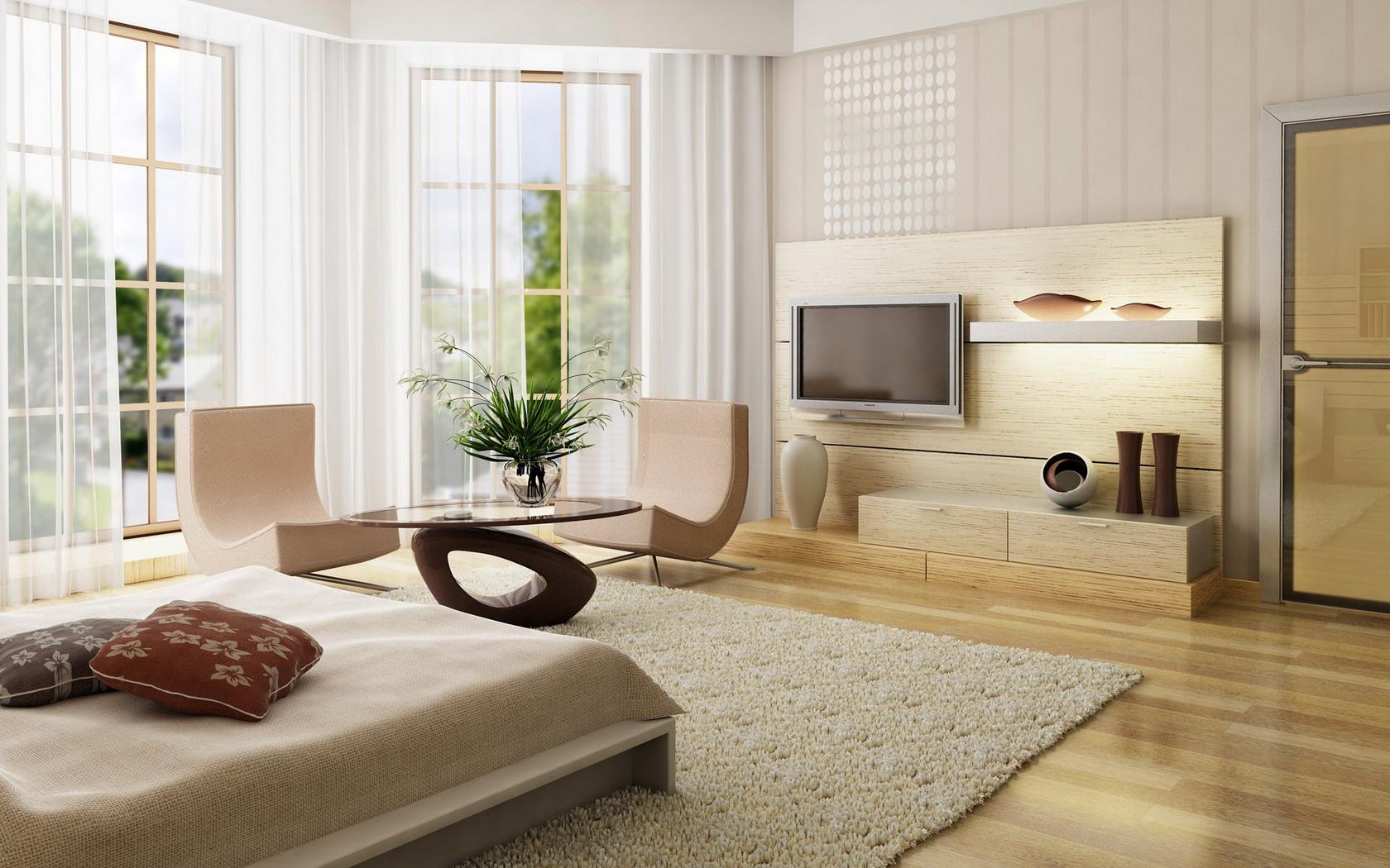 Bedroom Bed Architecture Interior Design Wallpaper | 1680x1050 | 148309 |  WallpaperUP