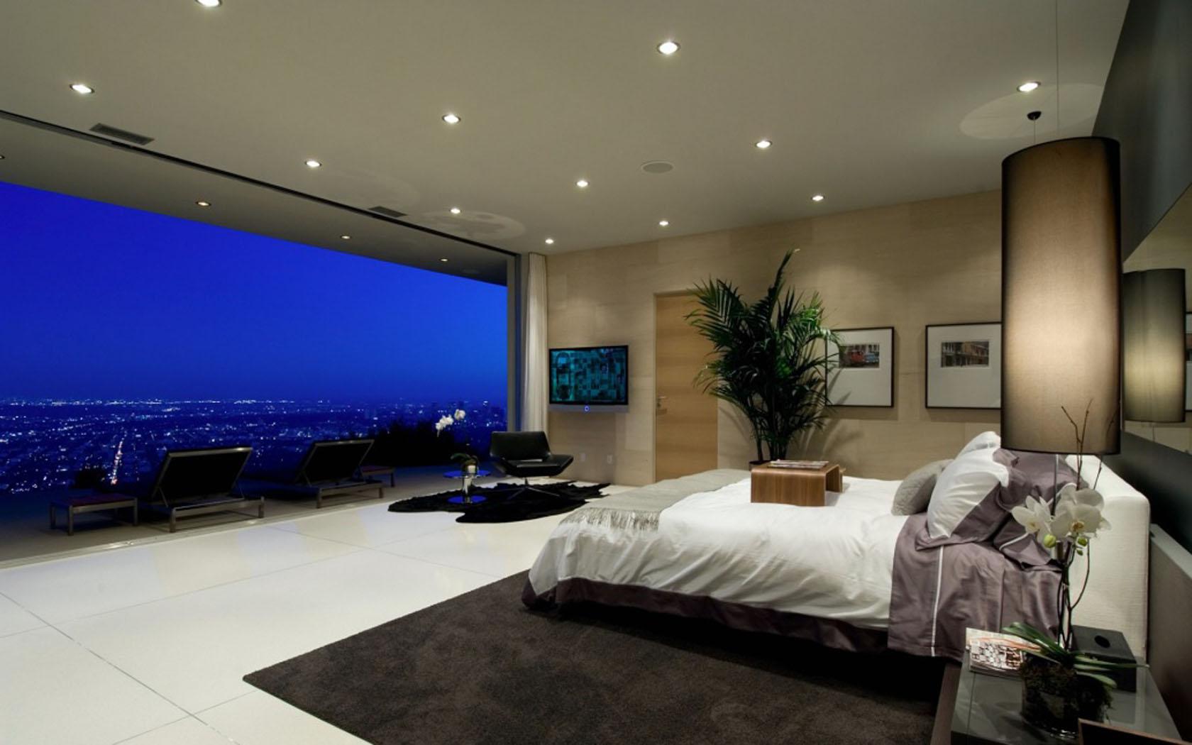 Bedroom Bed Architecture Interior Design Wallpaper | 1680x1050 | 148313 |  WallpaperUP