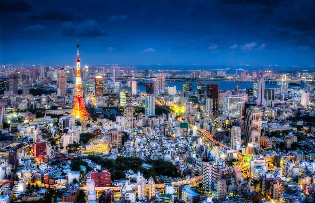 hdr Tokyo Japan wallpaper