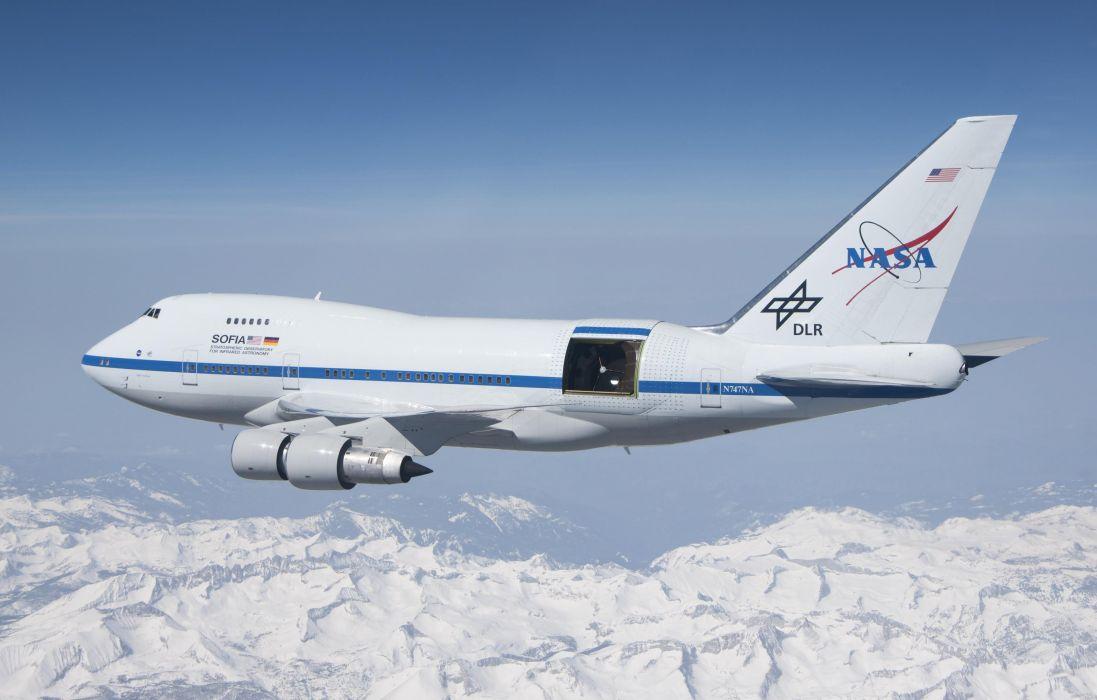 infrared telescope boeing 747sp nasa wallpaper