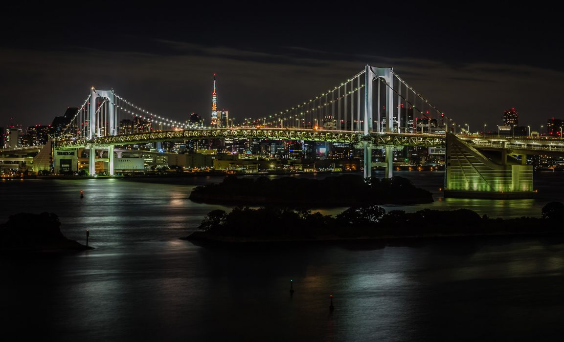 Rainbow Bridge Tokyo Japan wallpaper