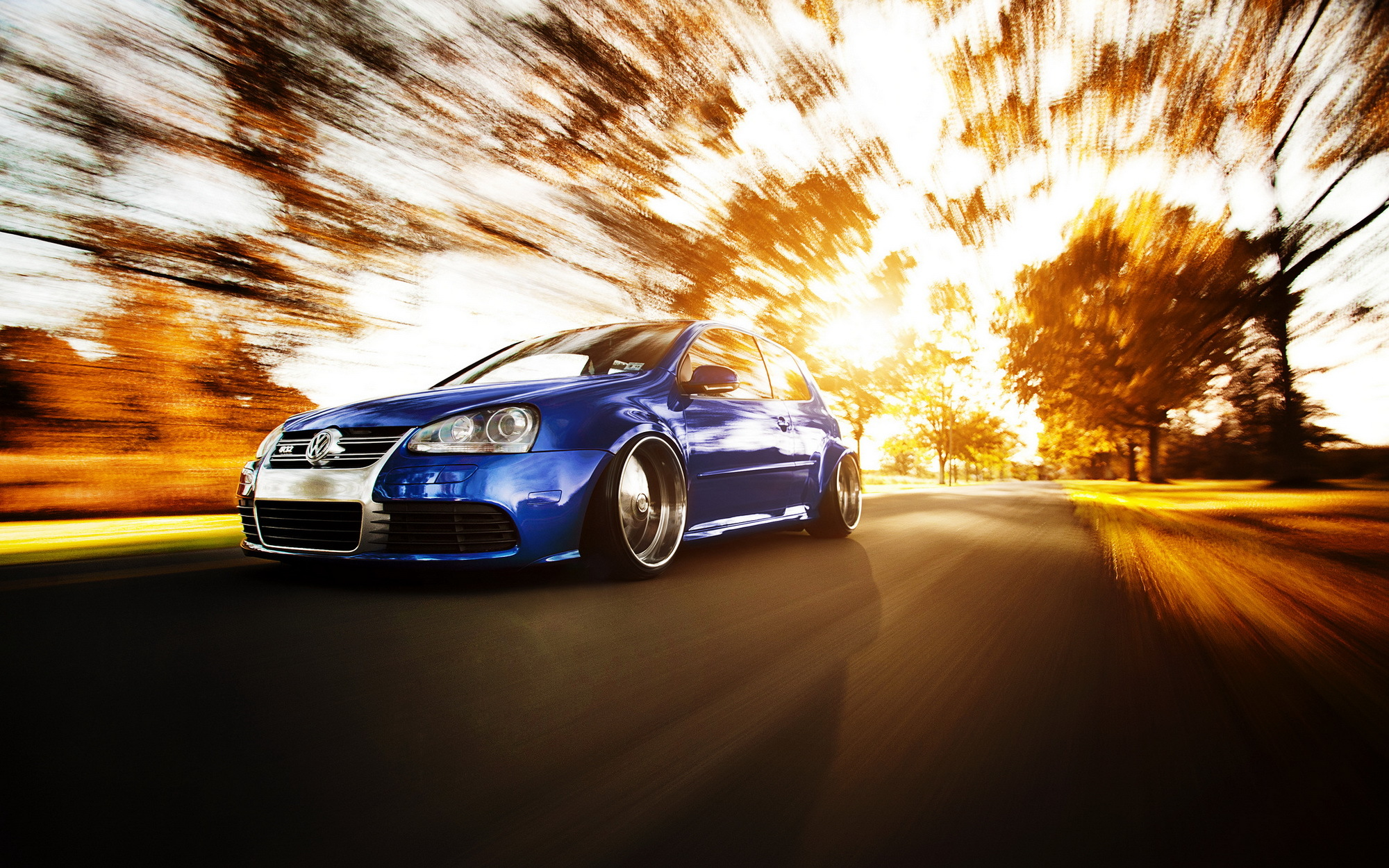 Road Tuning Volkswagen Golf Gti Wallpaper