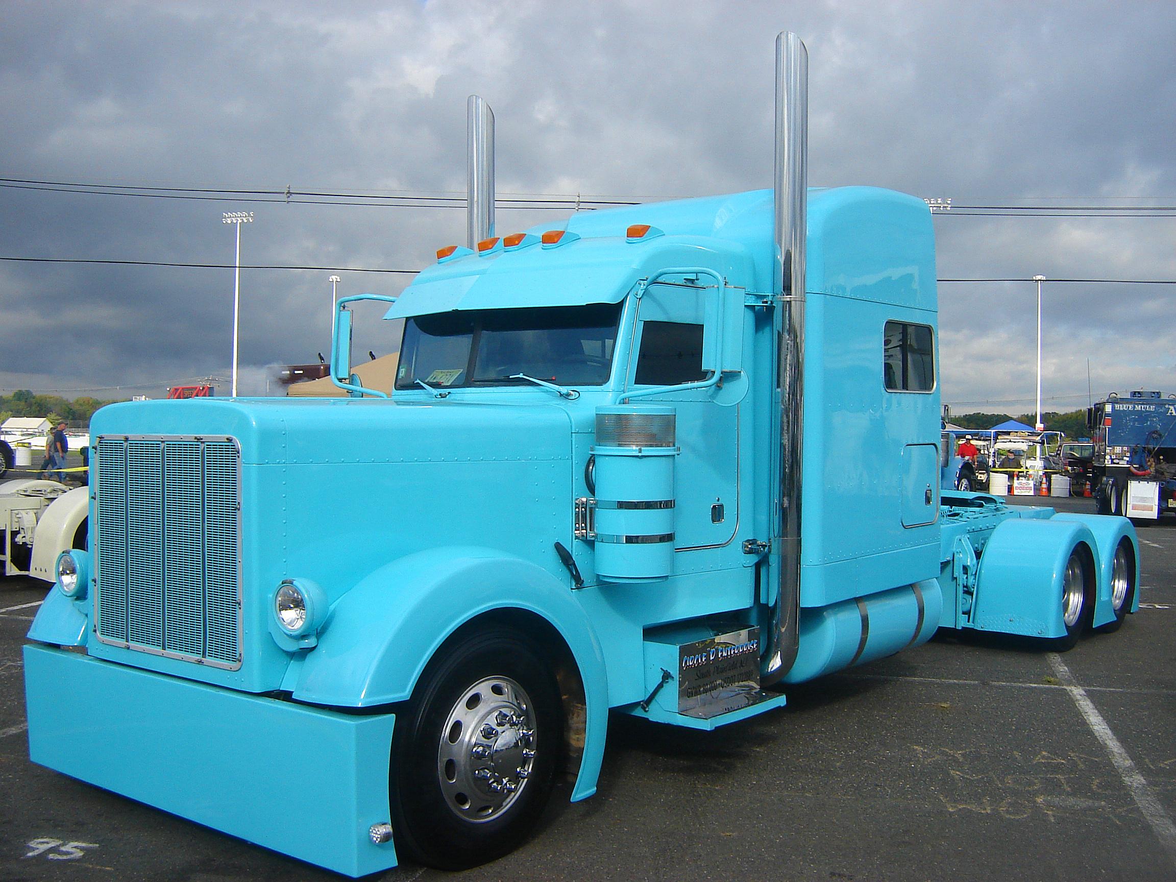 truck peterbilt custom big rig semi tractor wallpaper