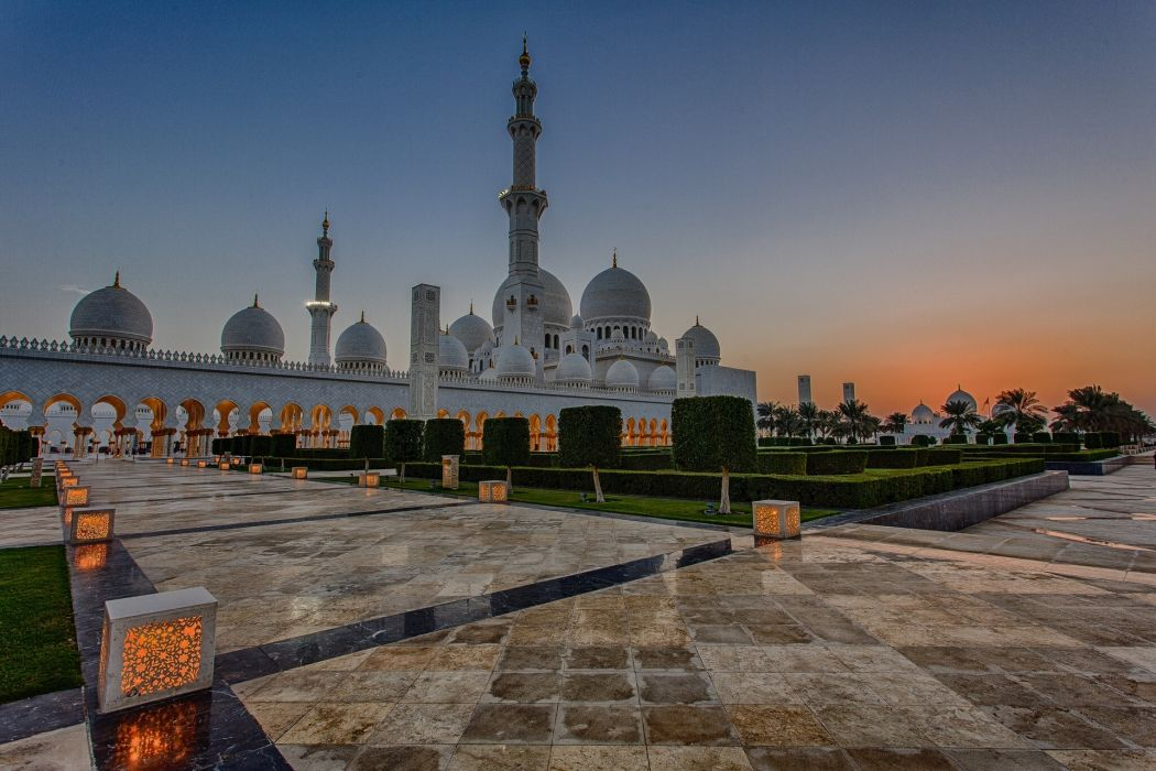UAE Sheikh Zayed Mosque Abu Dhabi United Arab wallpaper