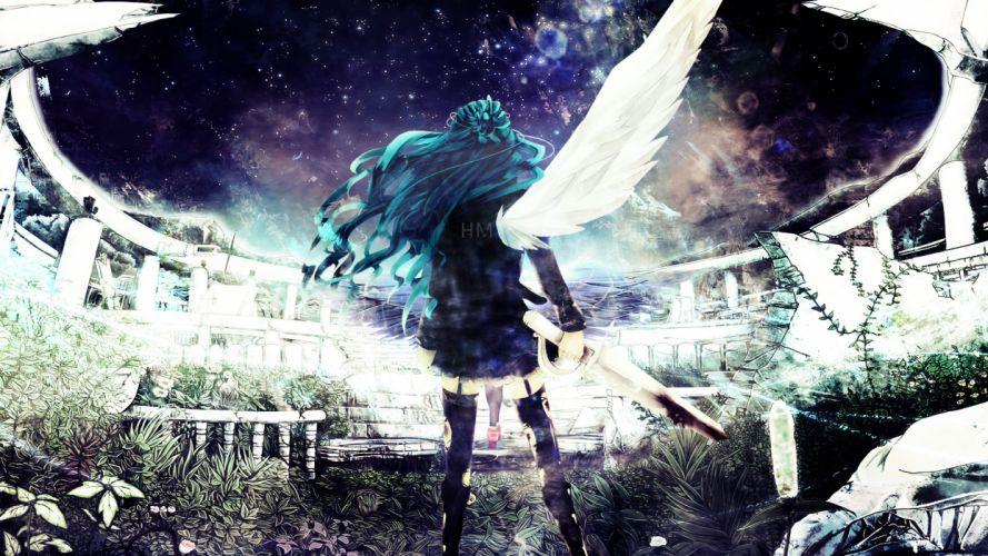 vocaloid angel hatsune miku jaehito wallpaper