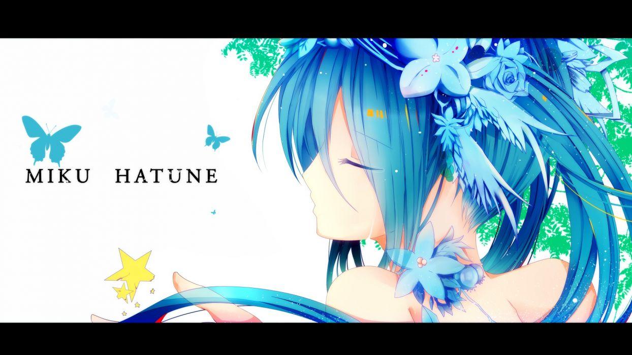 vocaloid blue hair close flowers hatsune miku tears vocaloid wallpaper