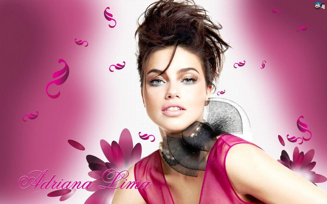 Adriana Lima Super Model Woman Girl Beauty Lips wallpaper
