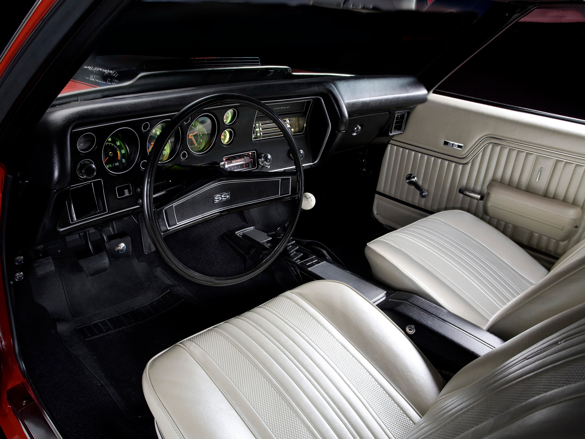 1970 Chevrolet Chevelle Ss 454 Ls6 Hardtop Coupe Muscle Classic S S Interior E Wallpaper