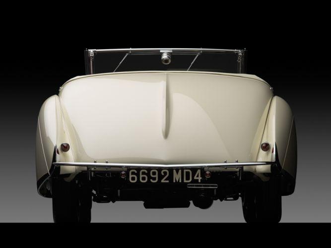 1936 Talbot Lago T150C Cabriolet by Figoni & Falaschi retro h wallpaper