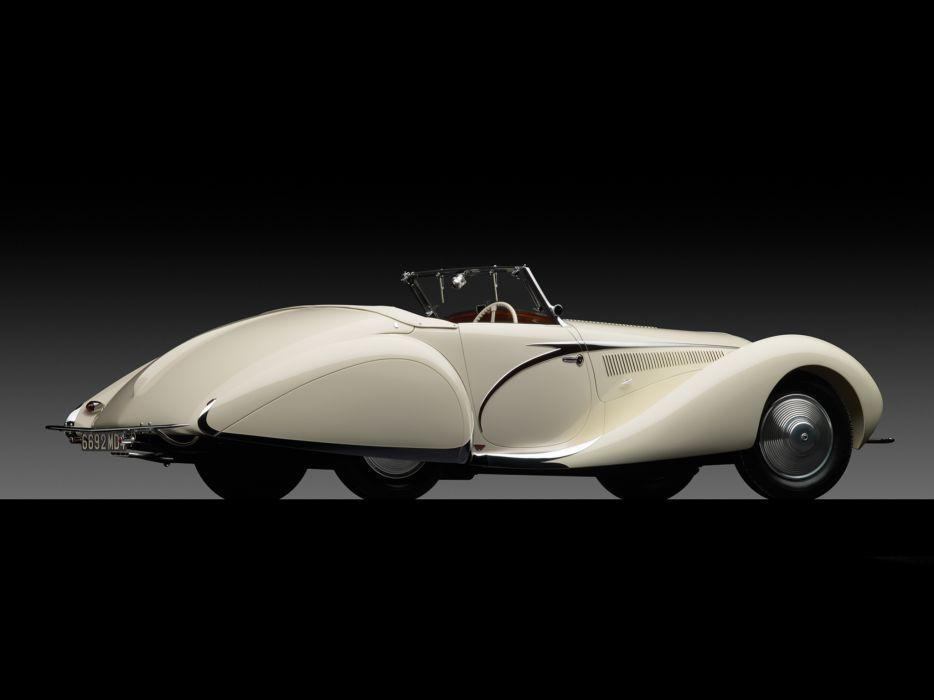 1936 Talbot Lago T150C Cabriolet by Figoni & Falaschi retro     gg wallpaper