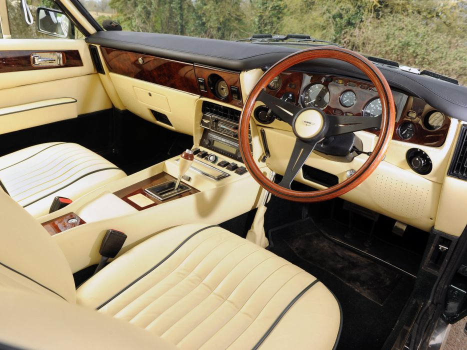 1977 Aston Martin V8 Vantage UK-spec muscle supercar v-8 interior       h wallpaper