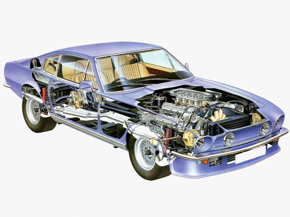 aston martin v8 vantage 1977 interior. 1977 aston martin v8 vantage uk-spec muscle supercar v-8 interior engine h m