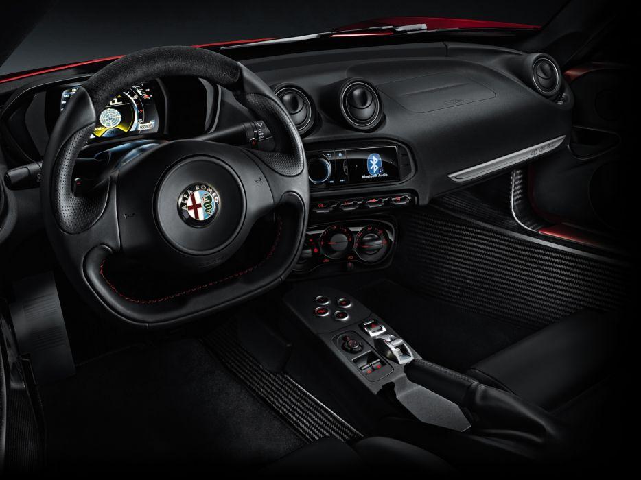 2013 Alfa Romeo 4C 970 supercar 4-c interior       h wallpaper