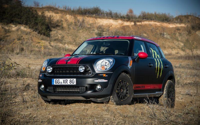 2013 Mini Countryman X-raid Service Vehicle race racing f wallpaper