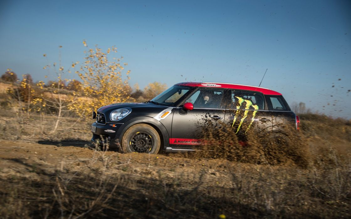 2013 Mini Countryman X-raid Service Vehicle race racing    h wallpaper