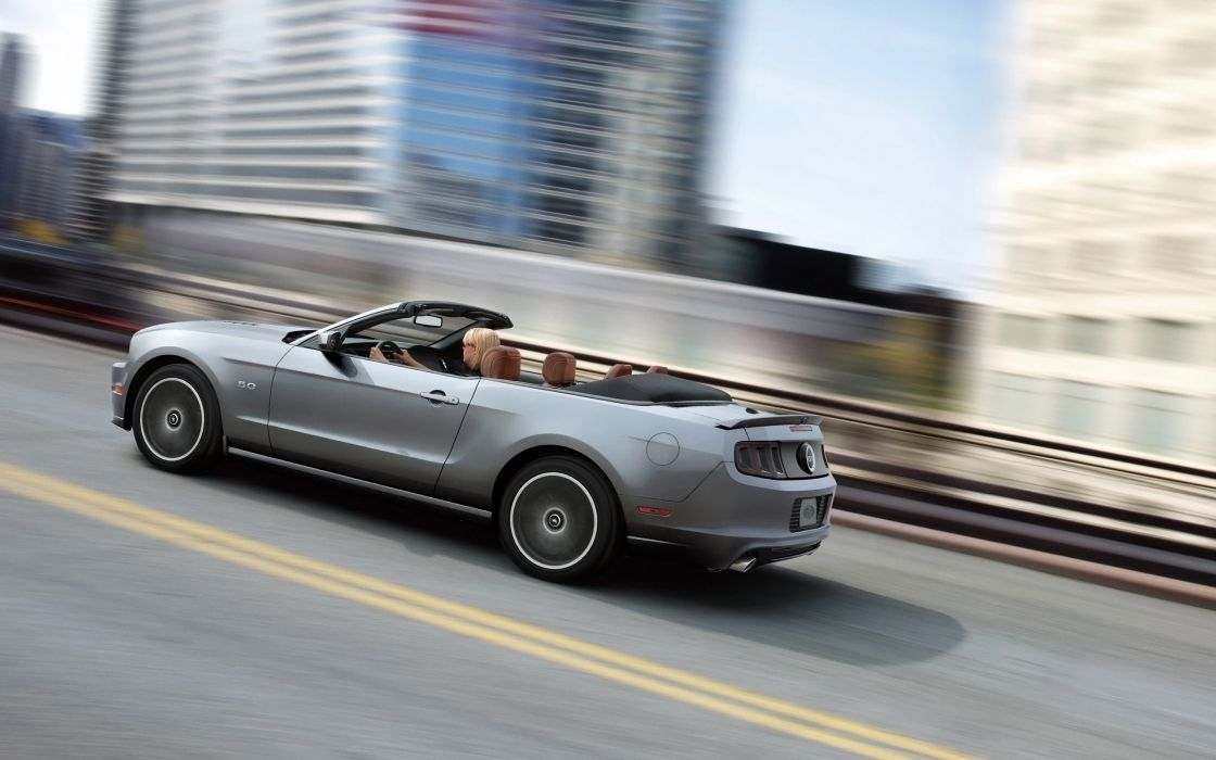 2014 Ford Mustang muscle convertible      gg wallpaper