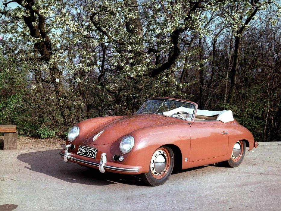 1952 Porsche 356 1500 Cabriolet retro wallpaper