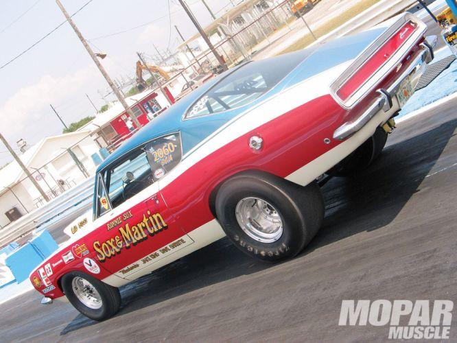 1968 Sox And Martin Hemi Plymouth Cuda drag racing muscle hot rod rods h wallpaper