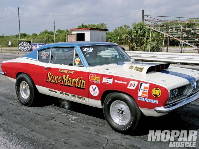 1968 Sox And Martin Hemi Plymouth Cuda drag racing muscle hot rod rods wallpaper