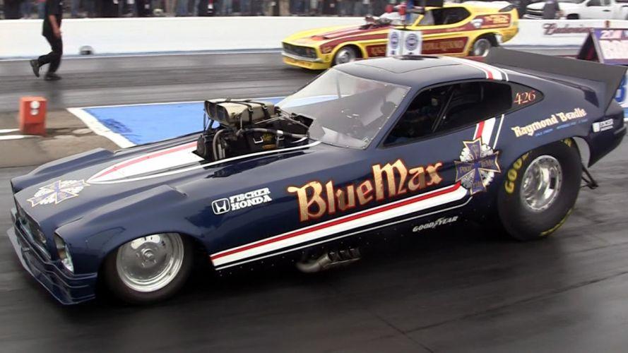 funnycar funny nhra drag racing race hot rod rods BLUE MAX ford mustang n wallpaper