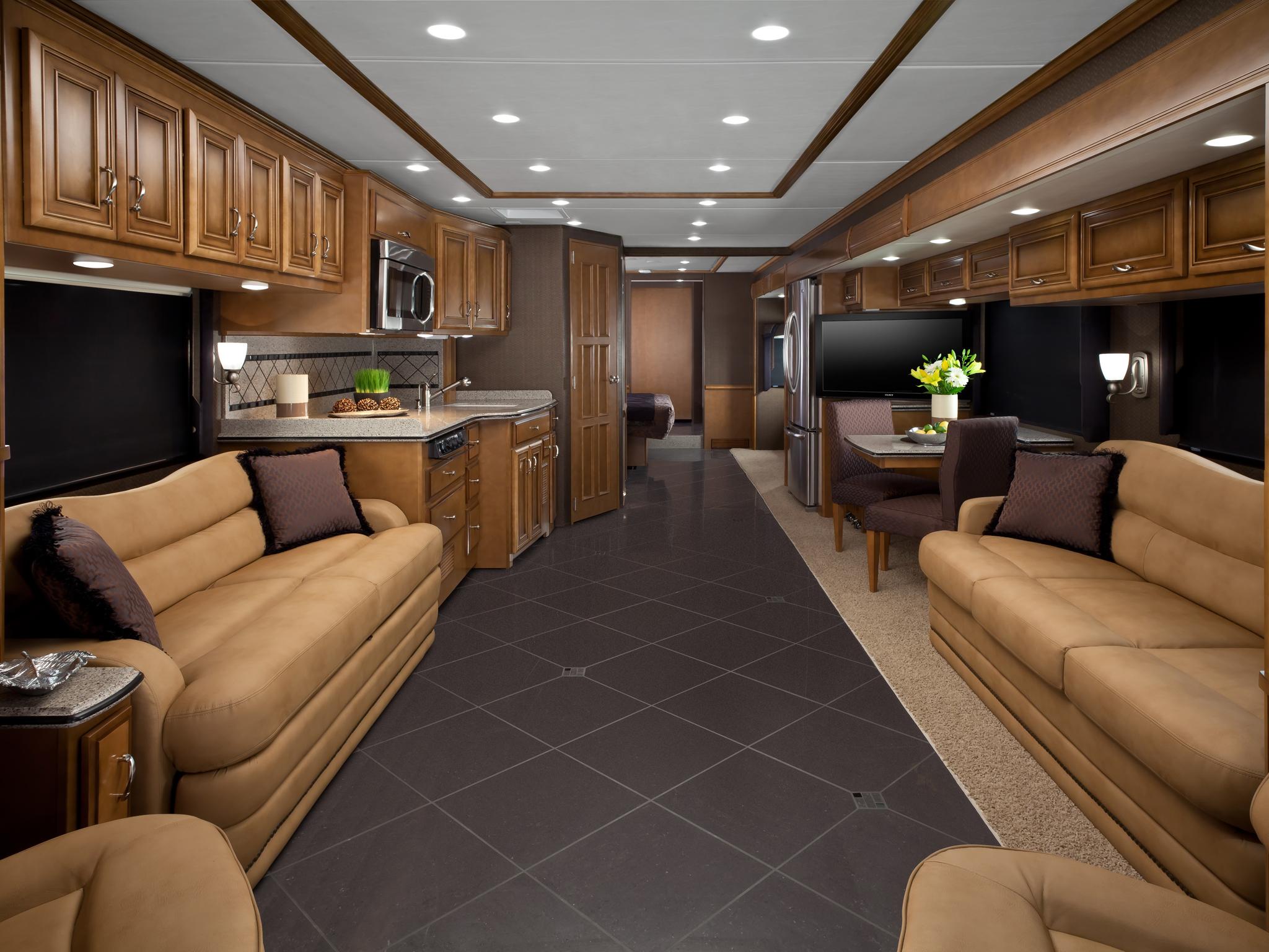2013 newmar ventana 4346 motorhome camper interior h for Camper interior designs