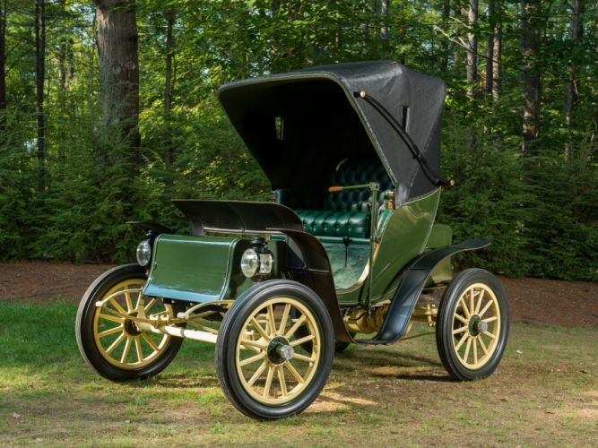 1906 Pope-Waverley 3-HP Electric Runabout retro g wallpaper