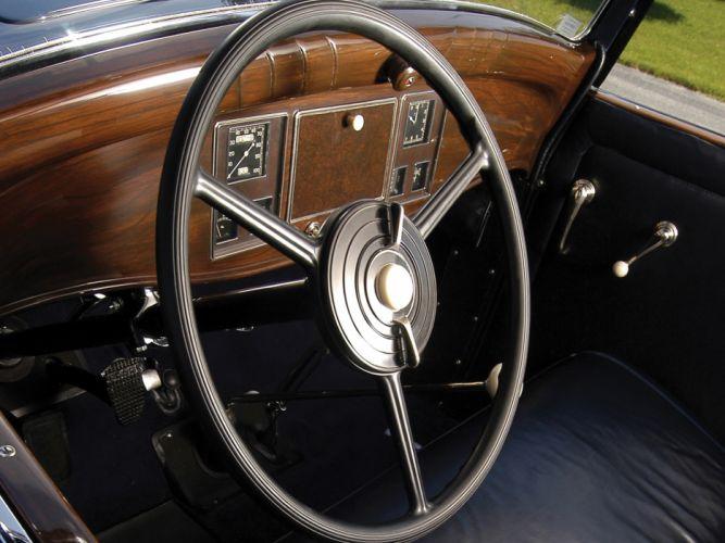 1931 REO Royale Convertible Coupe retro luxury interior h wallpaper