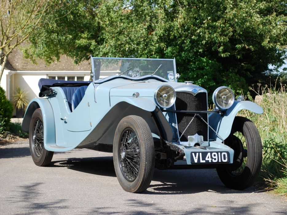 1933 Riley 9-HP March Special Tourer by John Charles & Sons retro convertible wallpaper