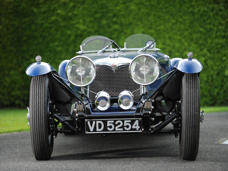 1935 Riley 1 Az Litre Kestrel Drophead Coupe retro supercar wheel     g wallpaper