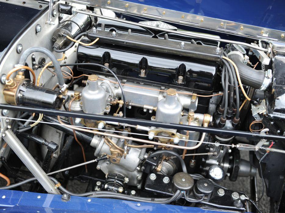 1935 Riley 1 Az Litre Kestrel Drophead Coupe retro engine       g wallpaper