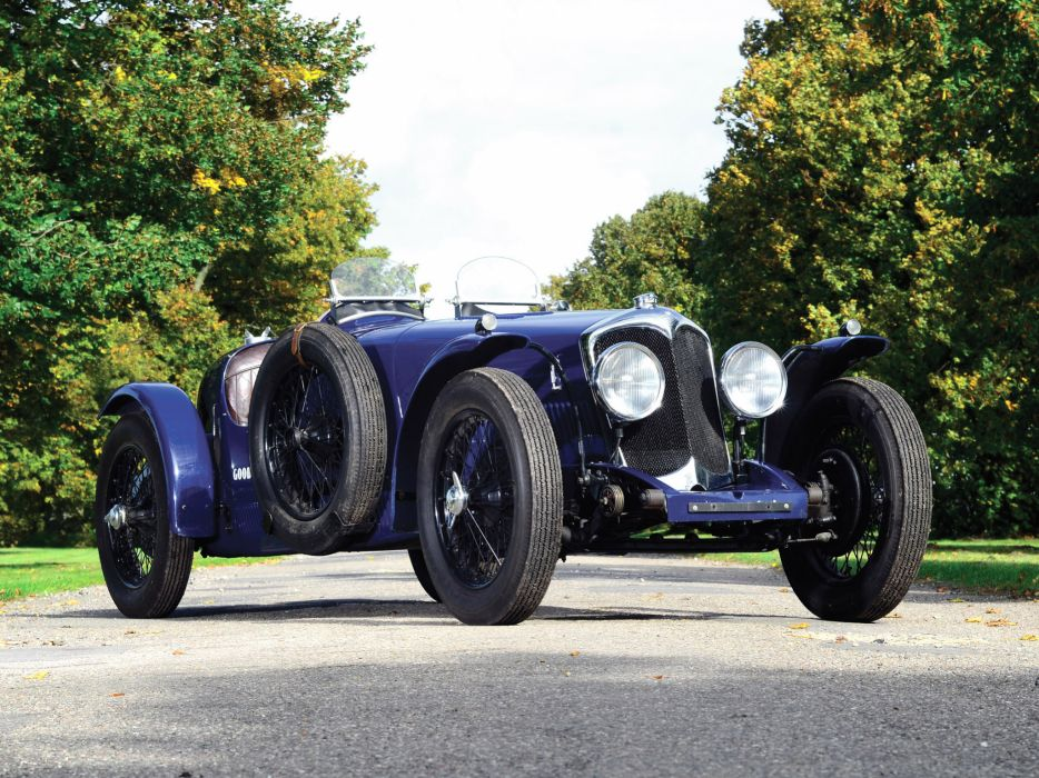 1935 Riley 12-4 Special race racing supercar retro wheel  r wallpaper
