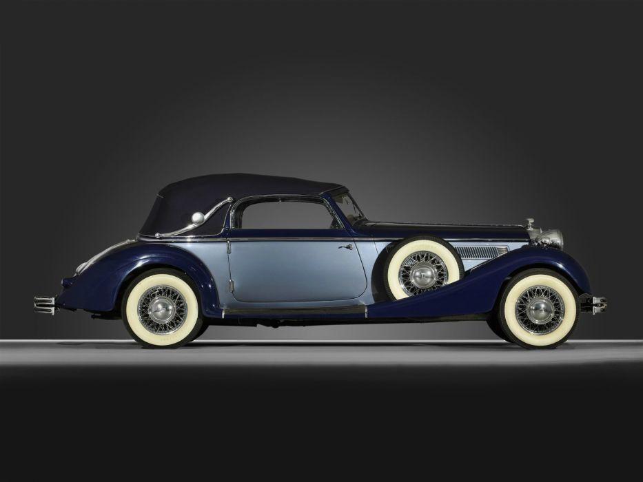 1937 Horch 853 A Sport Cabriolet retro luxury wheel      h wallpaper