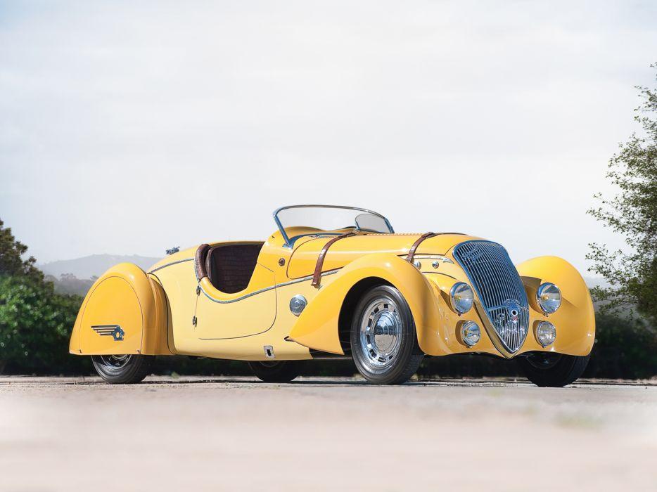 1937 Peugeot 402 Darl'mat Special Sport Roadster supercar retro  j wallpaper