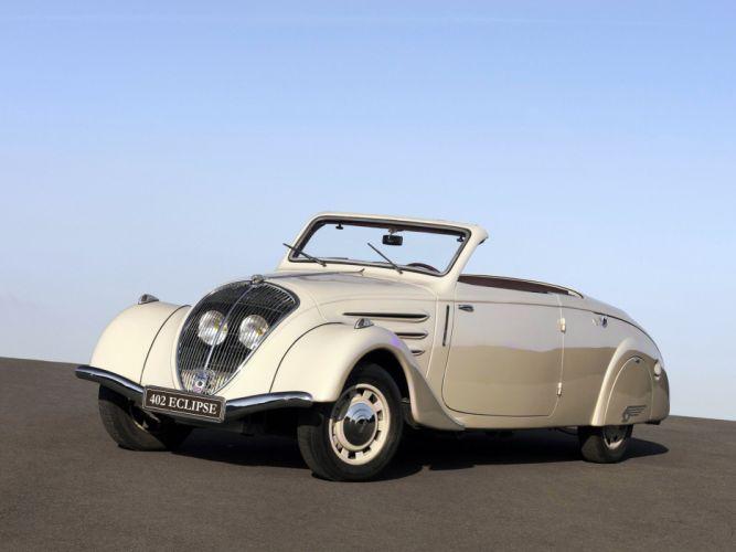 1937 Peugeot 402L Eclipse retro luxury convertible h wallpaper