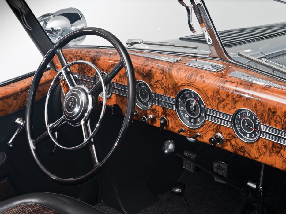 1938 Horch 853 Special Roadster by Erdmann & Rossi retro luxury convertible interior     h wallpaper
